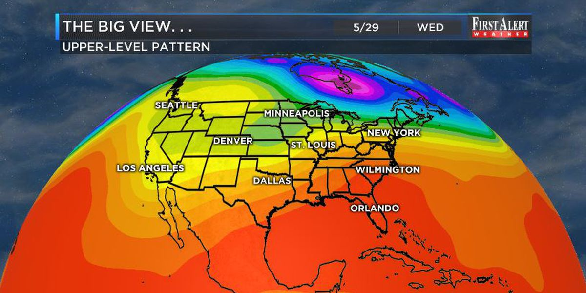 First Alert Forecast: scorching finish to May, milder start to June