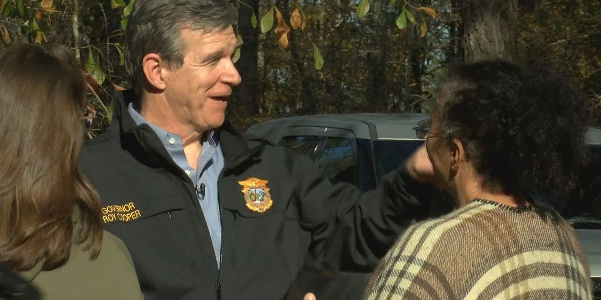 Governor Cooper visits Columbus County family recovering from both Matthew and Florence