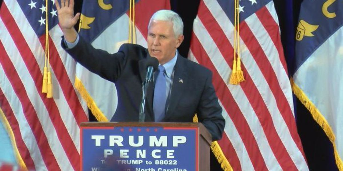 Pence tells crowd in Wilmington, 'Let's get to work'