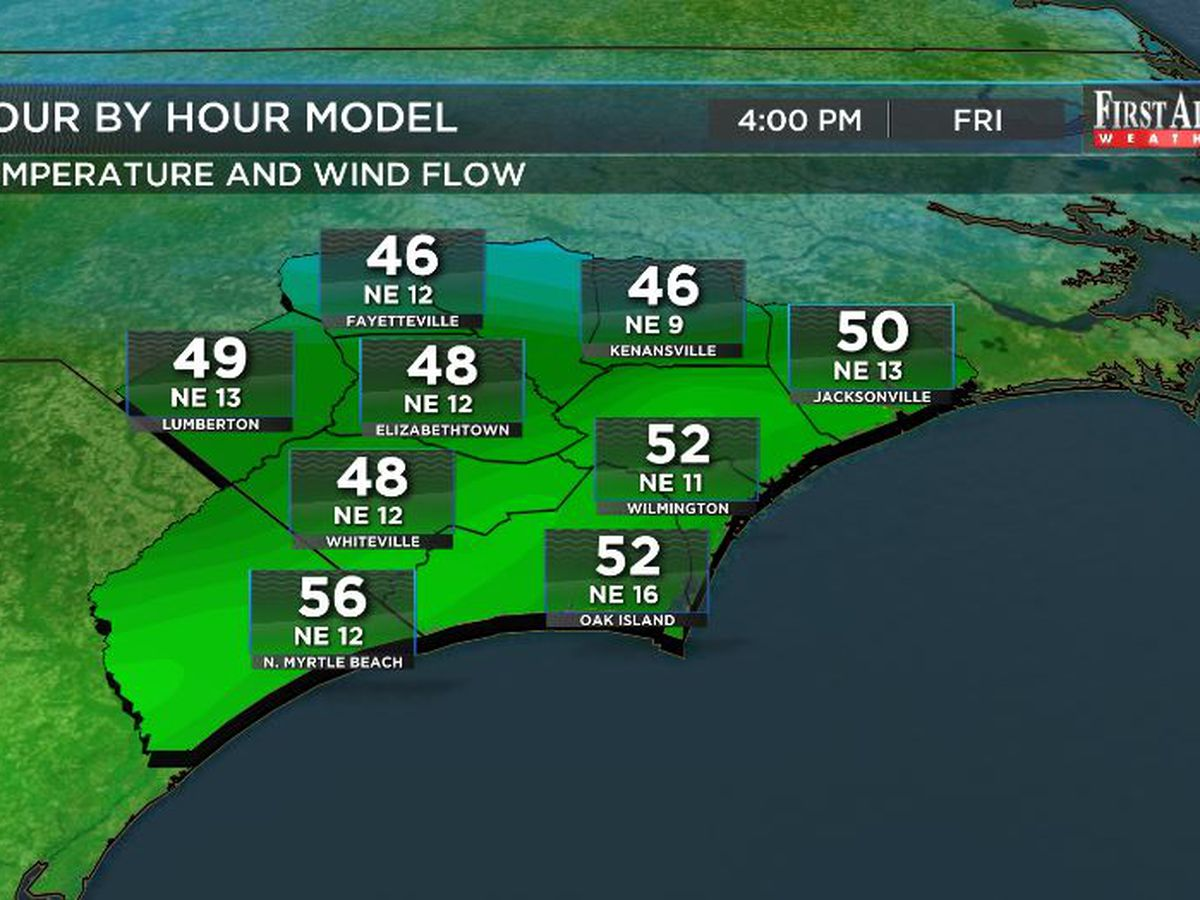First Alert Forecast: chilly and showery Friday to precede warmer weekend swing