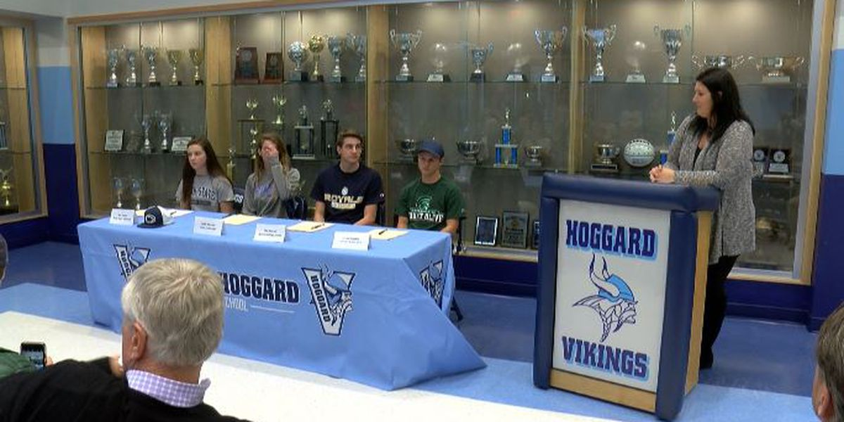Local athletes take advantage of fall signing period