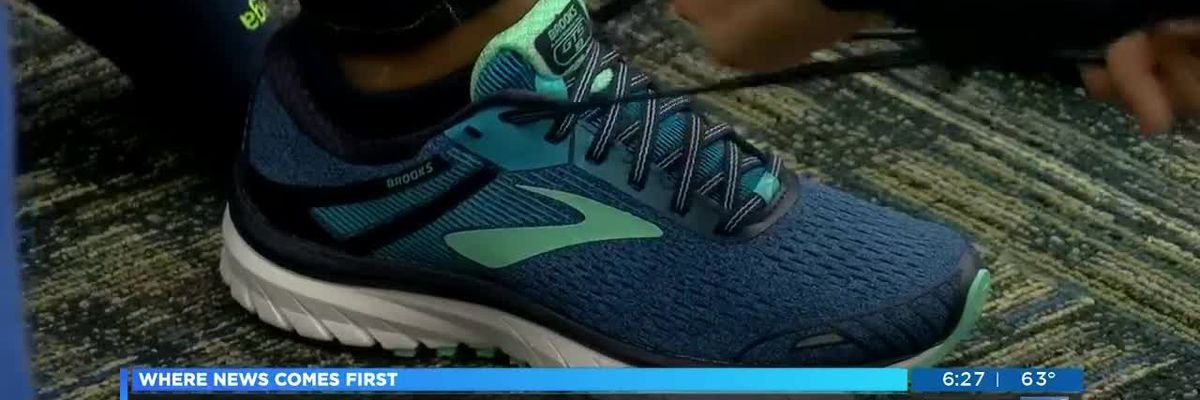 Cape Fear Middle students who are part of running club get new shoes