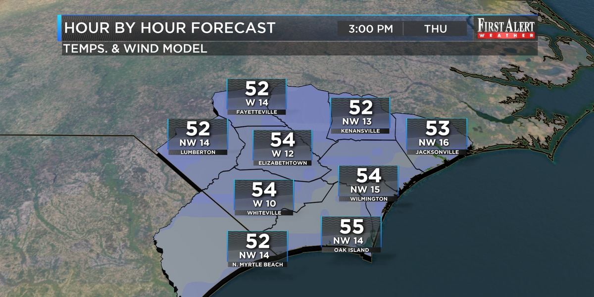 First Alert Forecast: from wet and mild to chilly and dry