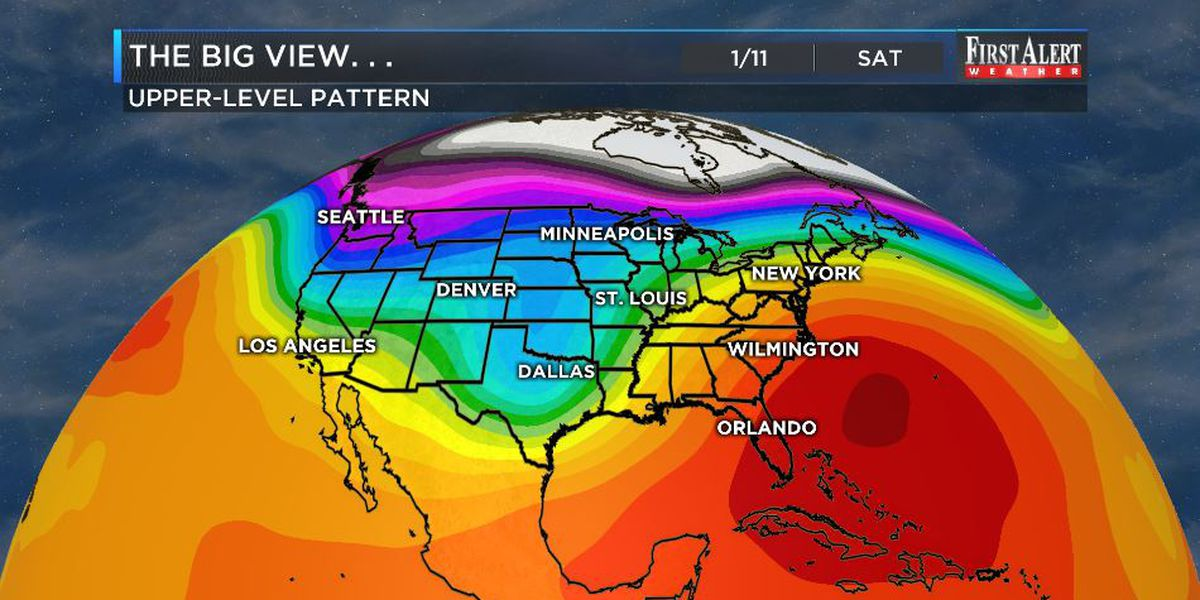 First Alert Forecast: Thursday: the coolest day for a long time