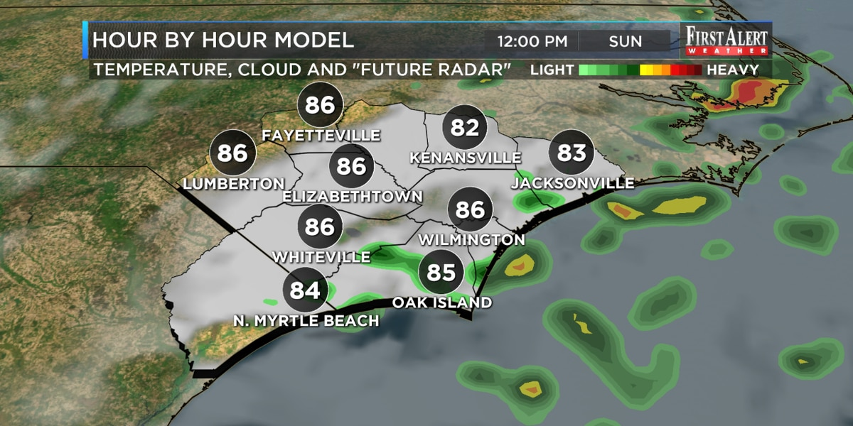 First Alert Forecast: storm chances continue to start the new week