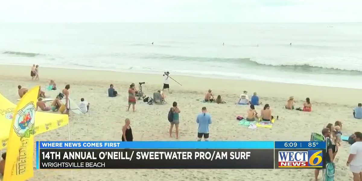 Hundreds of surfers battle foul weather to compete in O'neill Sweetwater Pro-Am