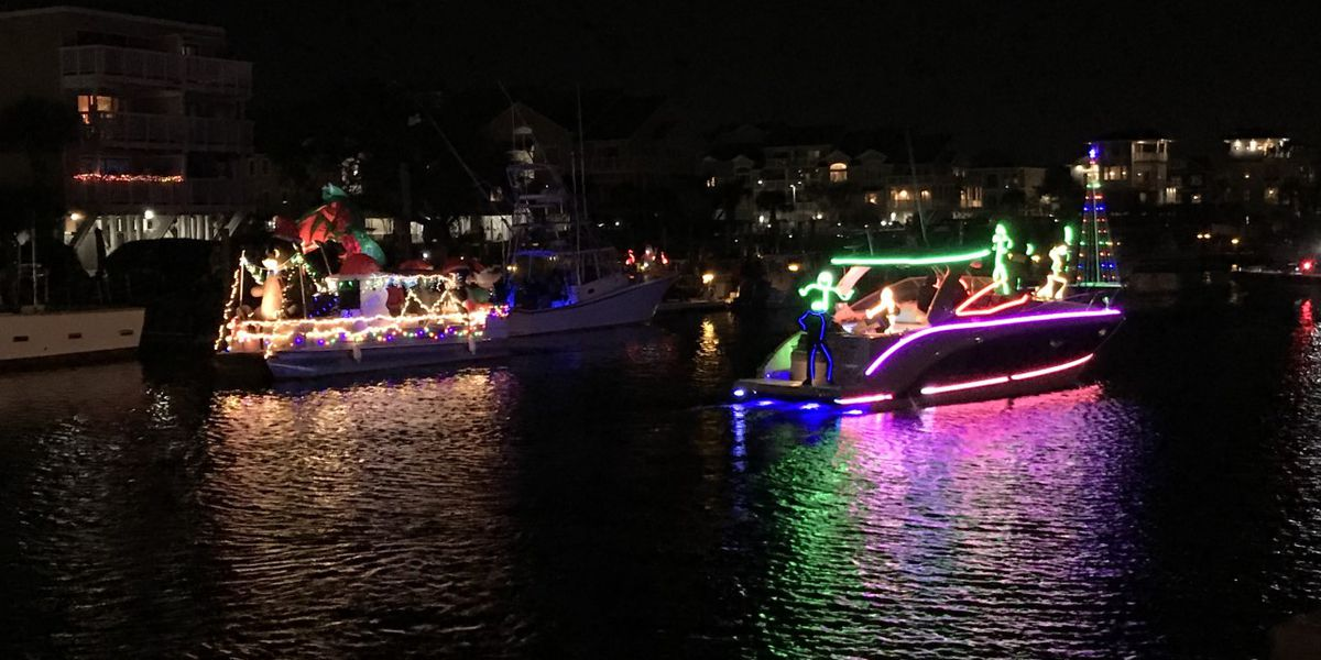 Decorated boats spread Christmas cheer in Island of Lights Flotilla