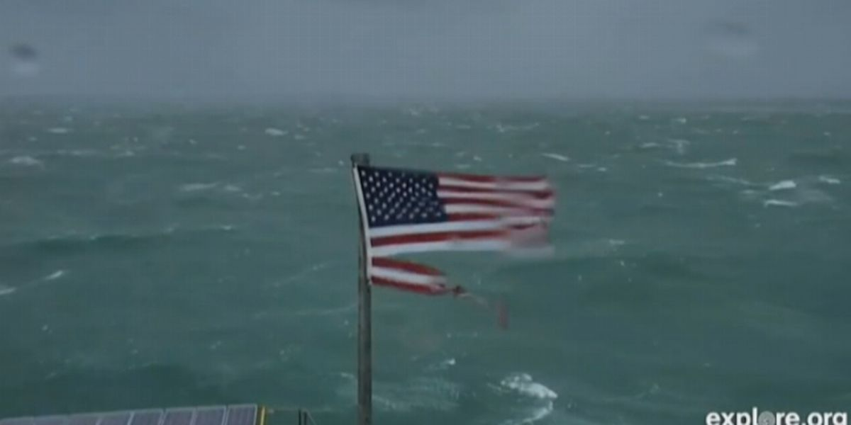 American flag that survived Hurricane Florence will be auctioned off for charity