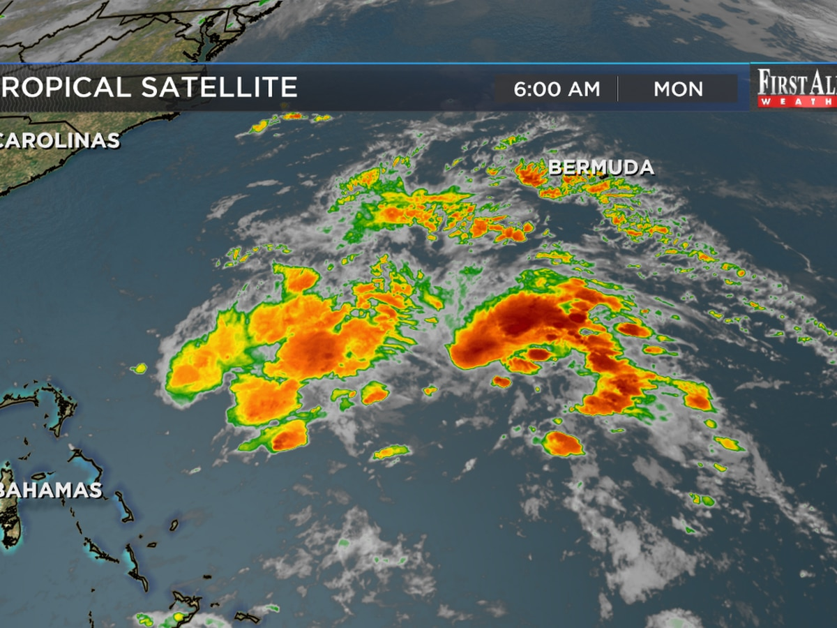 Subtropical Storm Andrea forms southwest of Bermuda