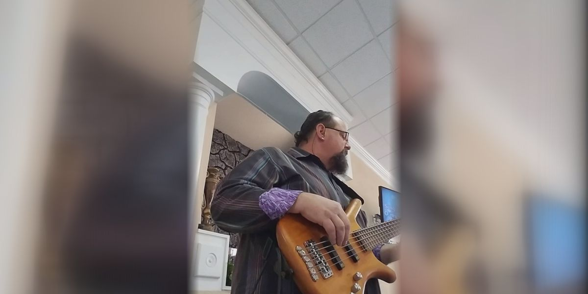 N.C. man says expensive bass guitar was stolen from church during funeral reception