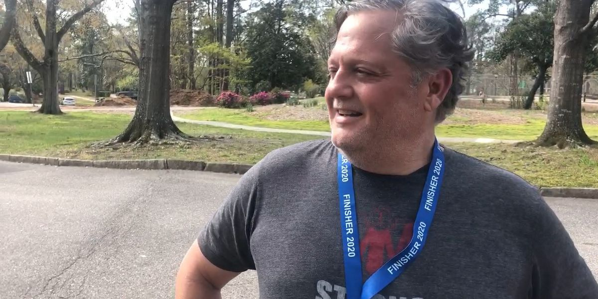 Cancelled race can't stop one man's half marathon run