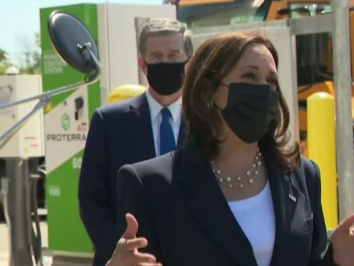 "VP Kamala Harris visits N.C. to discuss American Jobs Plan, tour electric bus facility ""There isn't only one path to success"""