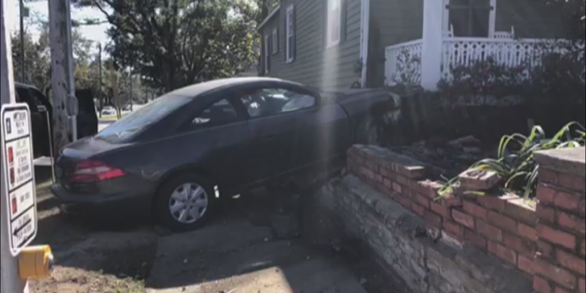 Driver arrested after crashing car into brick wall at Wilmington home identified