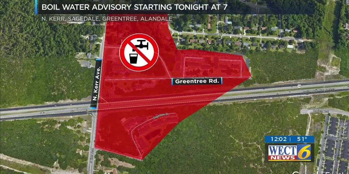 Boil advisory starts later today for about 300 customers in N. Kerr Ave., Greentree Road area