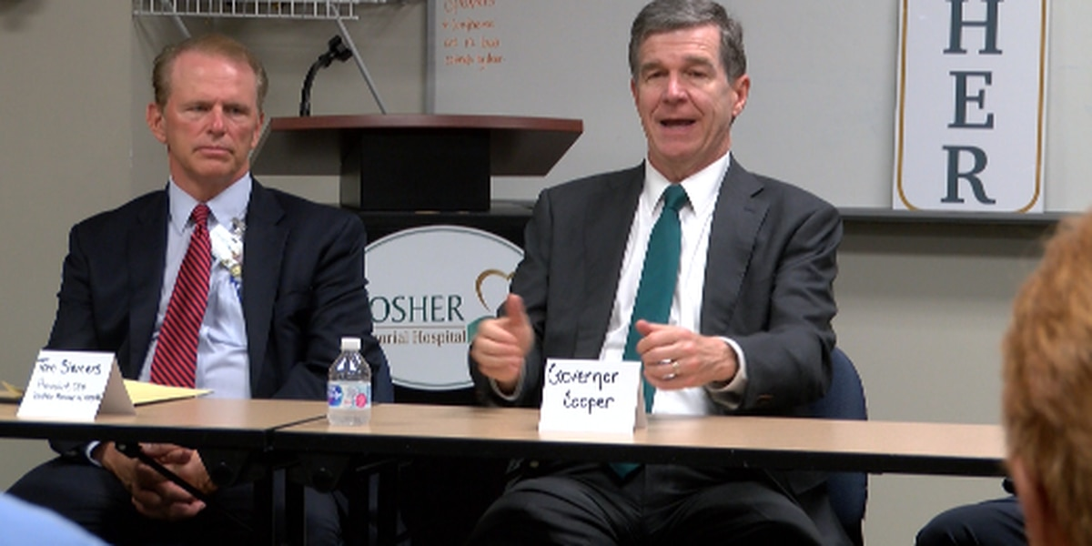Gov. Roy Cooper attends Medicaid roundtable discussion in Southport