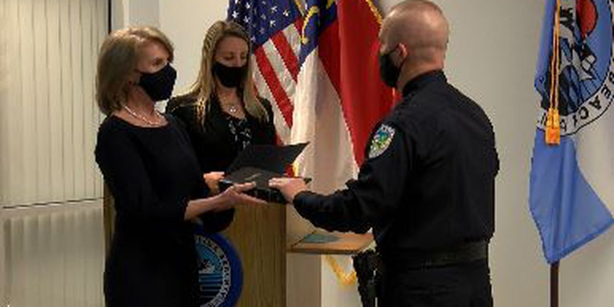 Vic Ward sworn in as Carolina Beach Police Chief