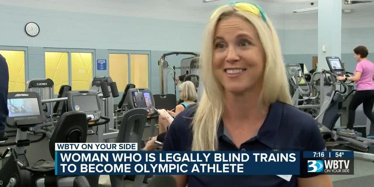 Legally blind triathlete raising money as she trains for Tokyo 2020