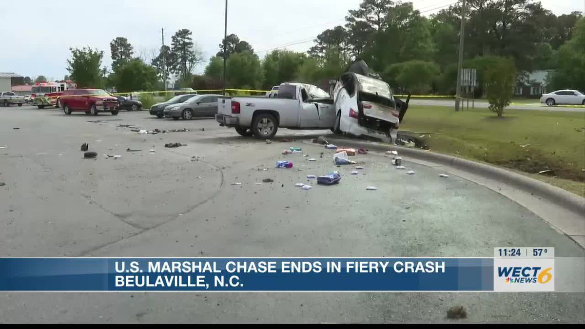 Law enforcement chase in Beaulaville ends in a fiery crash