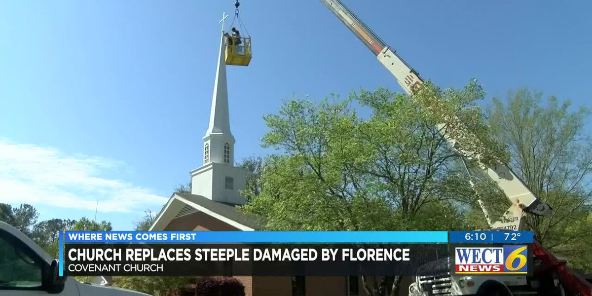 Wilmington church replaces steeple damaged in Hurricane Florence