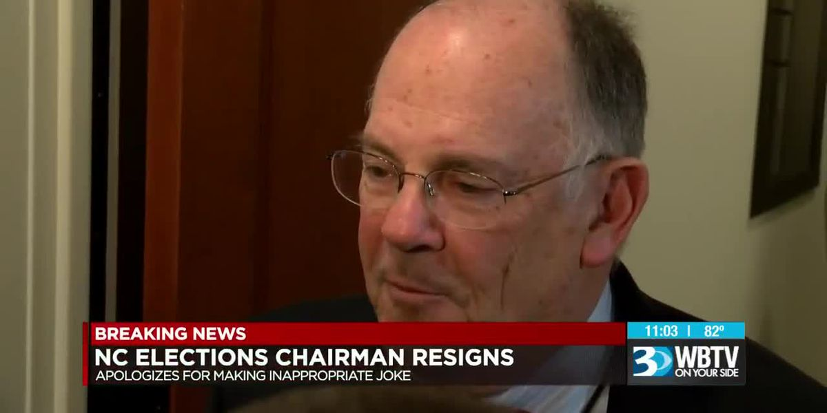 NC Board of Elections Chairman resigns, apologizes for joke at elections conference