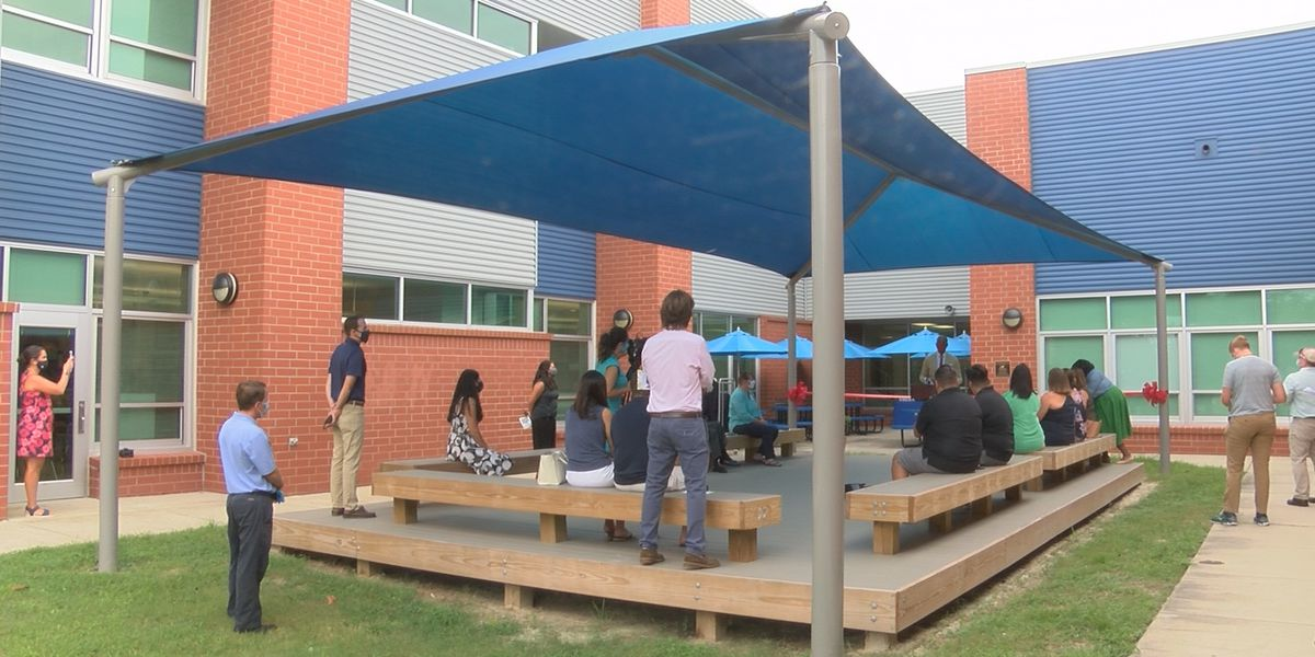Ogden Elementary unveils new socially-distant-focused outdoor classroom
