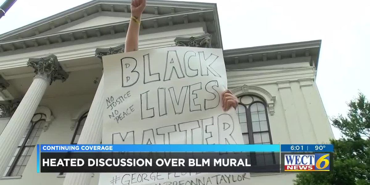 Heated discussion over Black Lives Matter mural