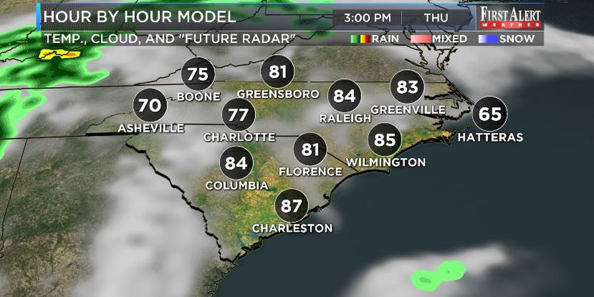 First Alert Forecast: toasty Thursday, showers and storm return Friday