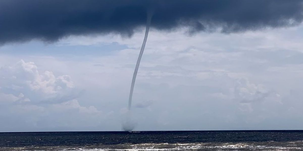 Waterspout spotted off Brunswick County beach