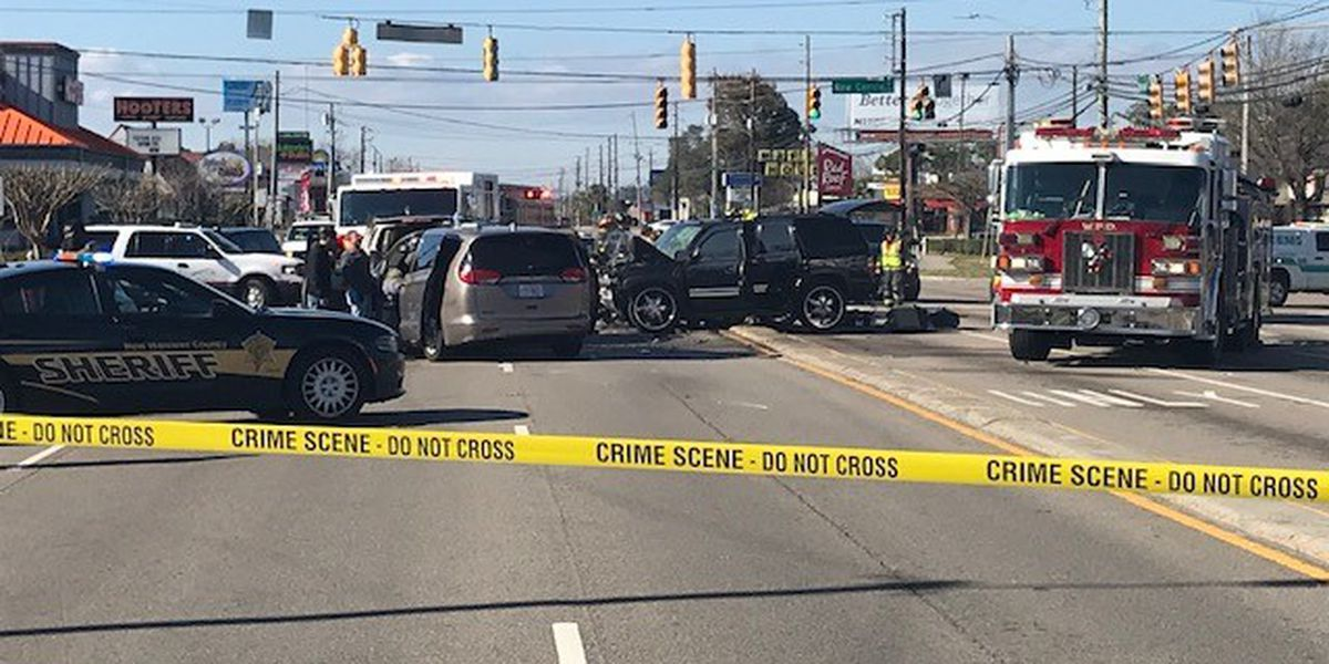 TRAFFIC ALERT: Law enforcement pursuit ends in mutli-vehicle crash near Market St. and New Centre Dr.