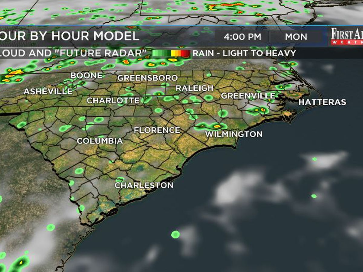 First Alert Forecast: seasonably muggy with modest rain chances