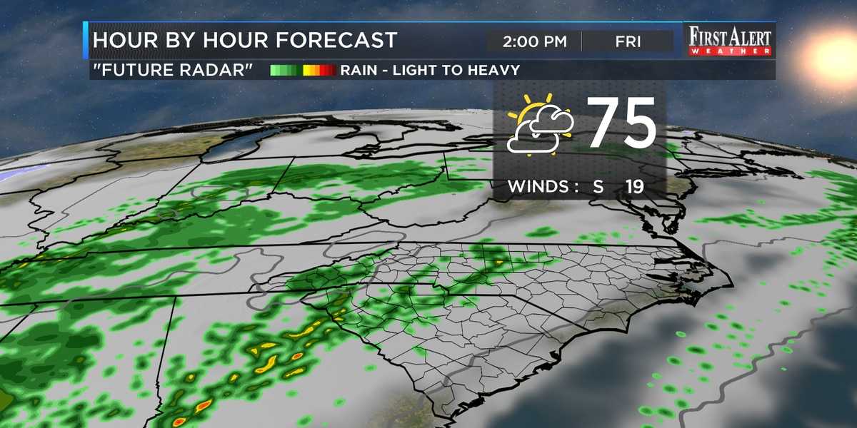 First Alert Forecast: temperatures set to soar late week followed by another cool down