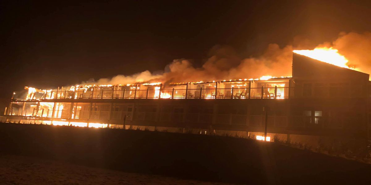 Authorities still trying to determine cause of massive Oak Island motel fire