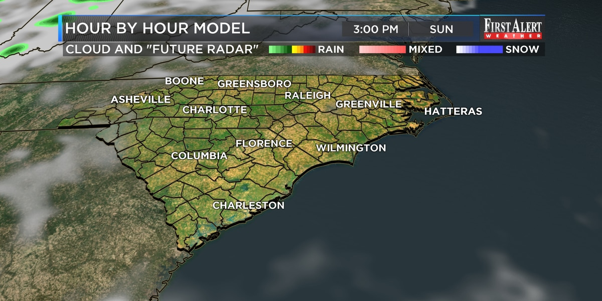 First Alert Forecast: dry Sunday, higher rain chances to come