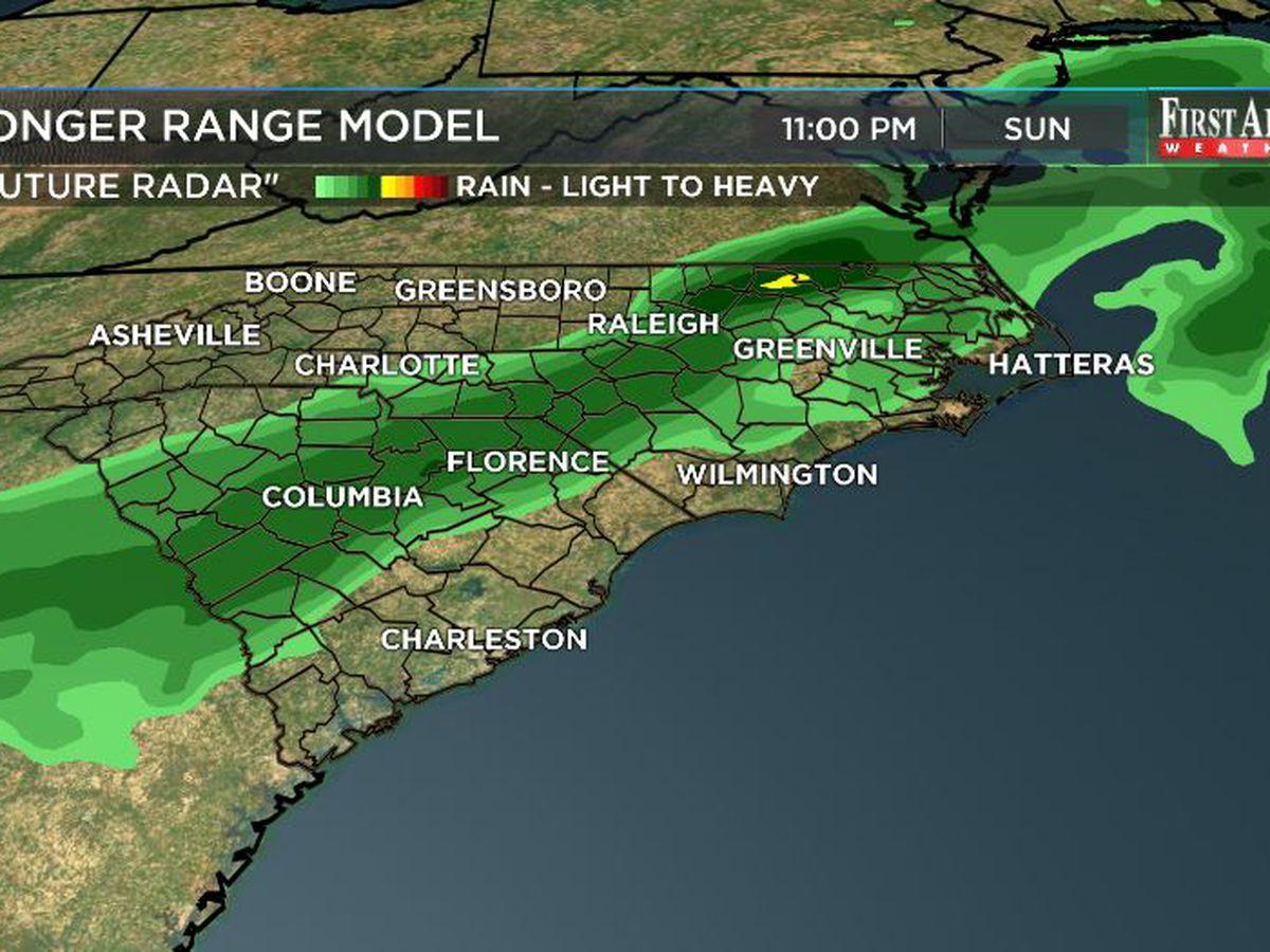 First Alert Forecast: weekend warming, rain odds slowly growing