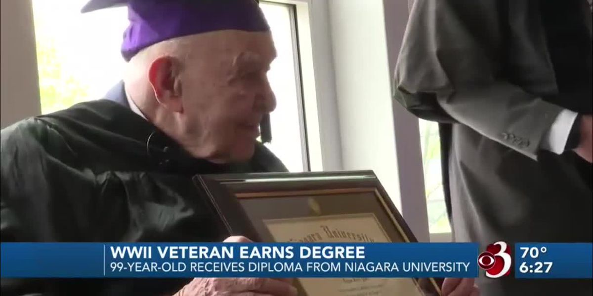 75 years after leaving school for war, veteran gets diploma