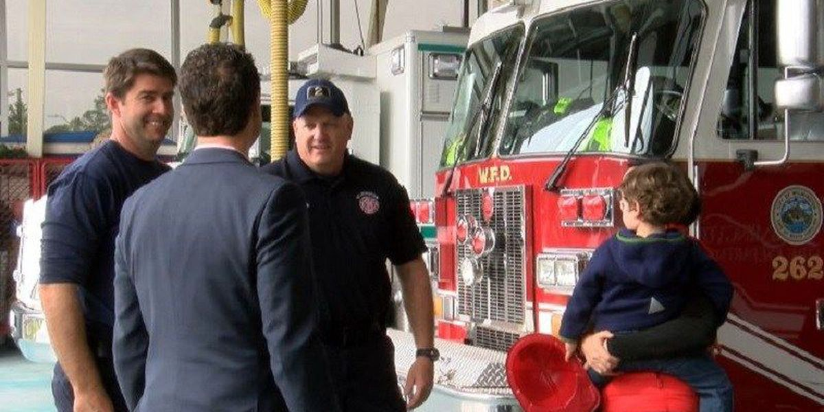 Heart attack victim reunited with first responders who saved his life