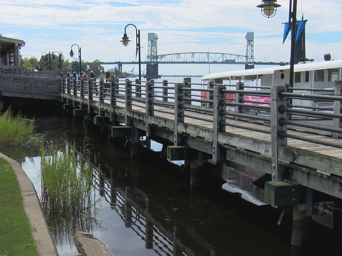 Downtown Wilmington Riverwalk undergoing repairs