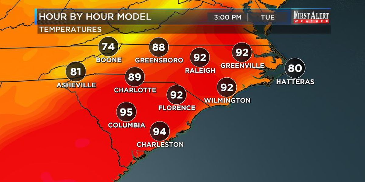 First Alert Forecast: temps to turn up to start new work week