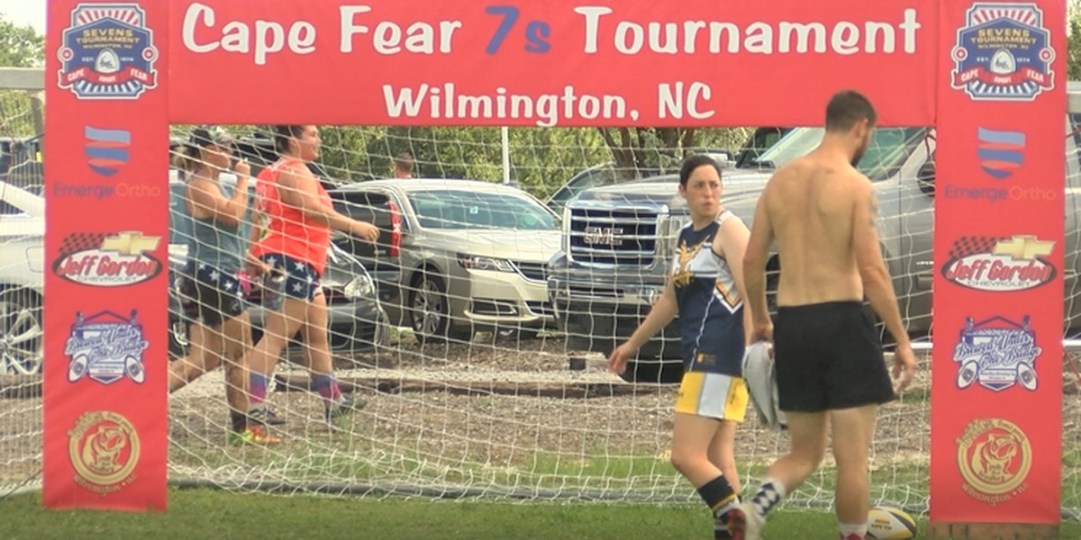 Hundreds of Rugby players takeover the cape fear