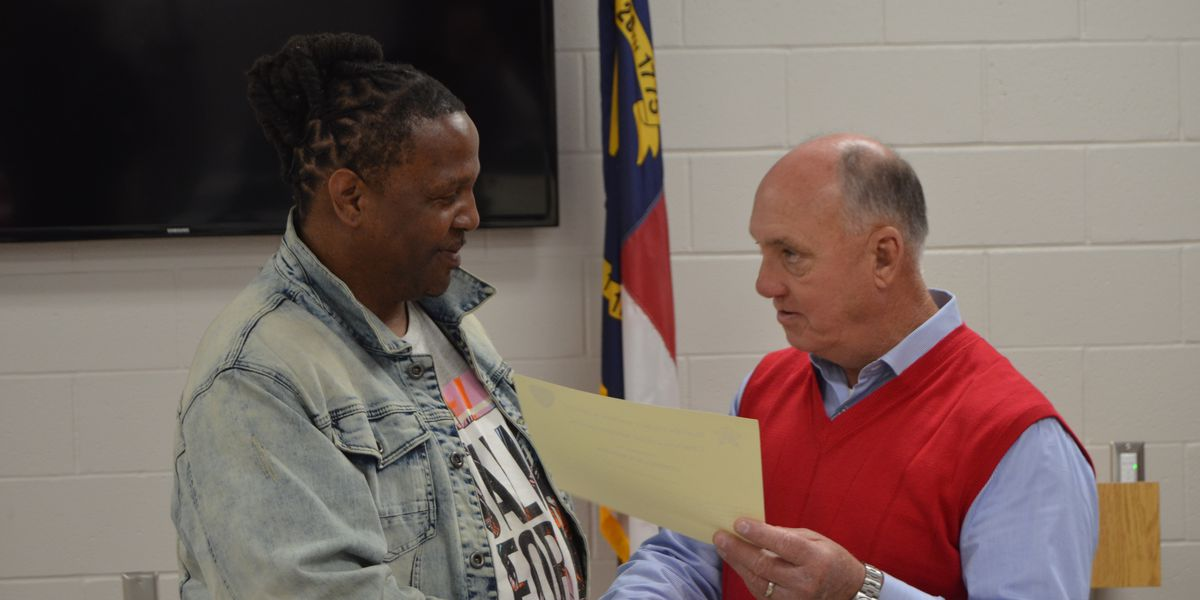 Worker recognized for actions during Bladen County active shooter situation