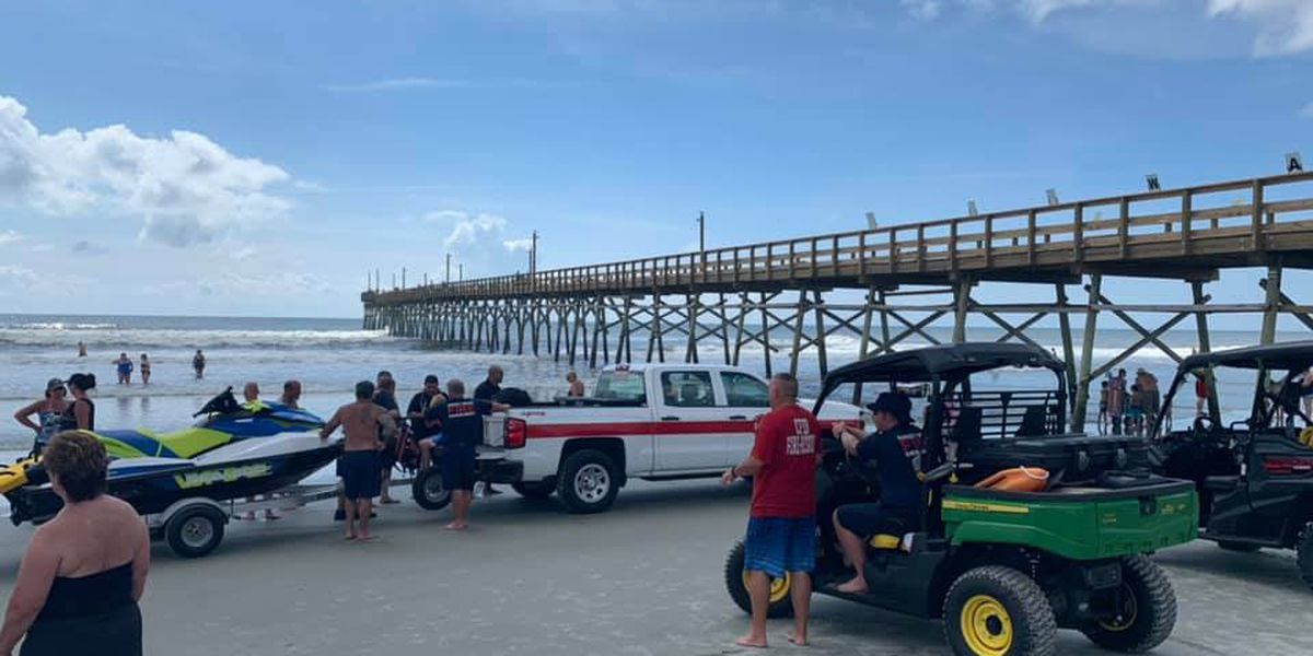 Young boy safely rescued from ocean at Sunset Beach