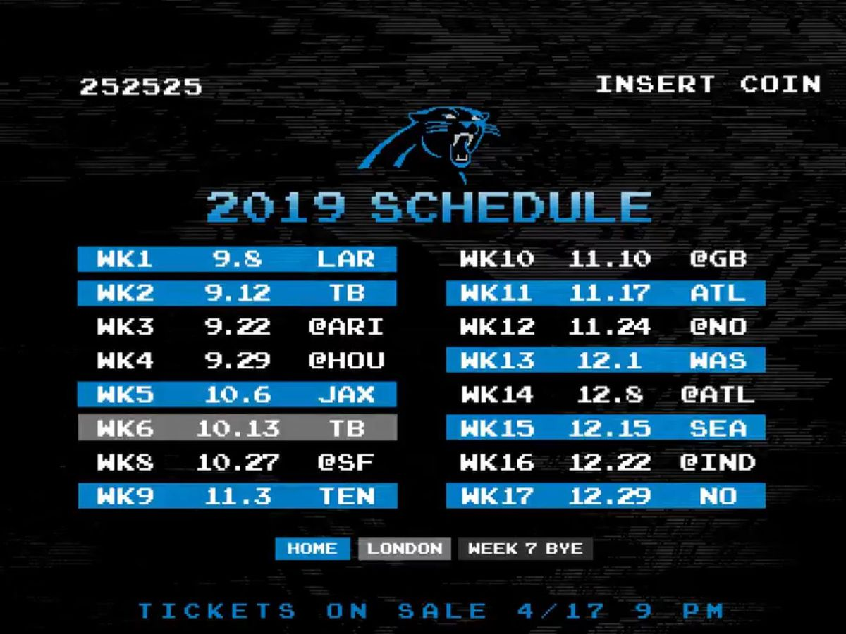 Carolina Panthers' video game-themed schedule release gets rave reviews