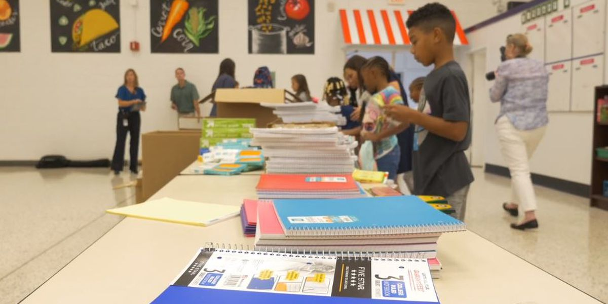 NCDOT staff delivers schools supplies to New Hanover students