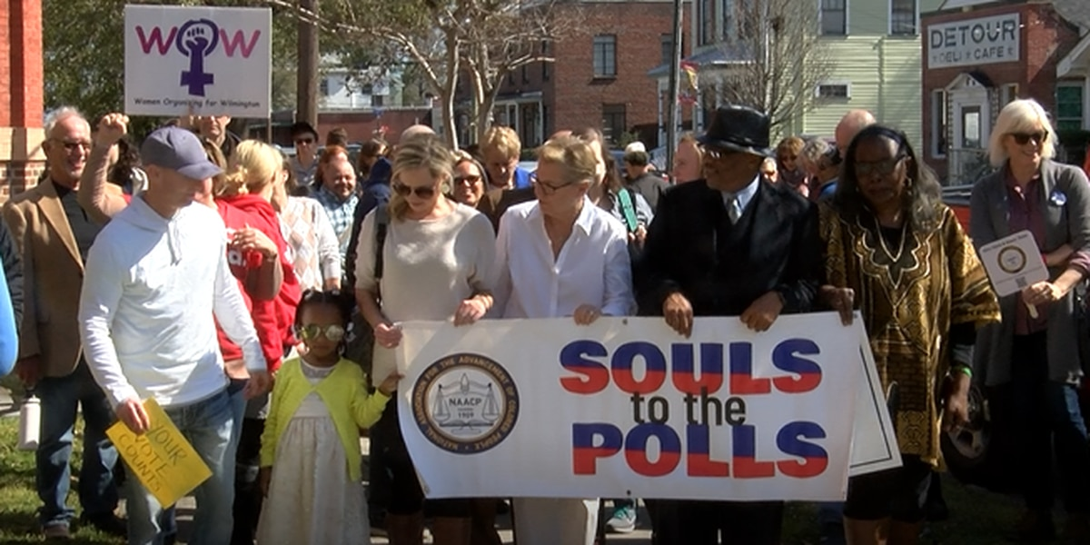 Dozens march for 'Souls to the Polls'