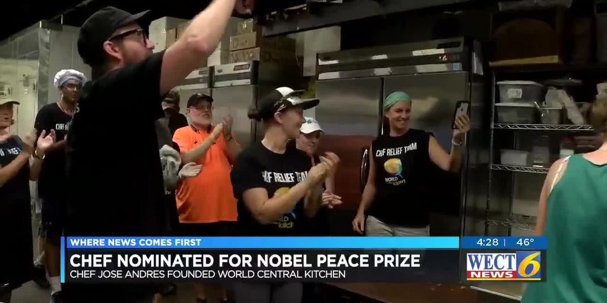 World Central Kitchen's founder is nominated for a Nobel Peace Prize.