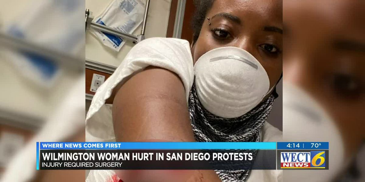 Wilmington woman injured in CA demonstration plans to continue protesting
