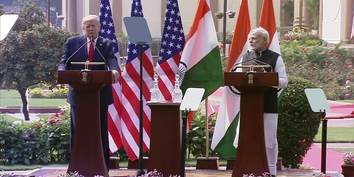 Trump: U.S. working on trade agreement with India