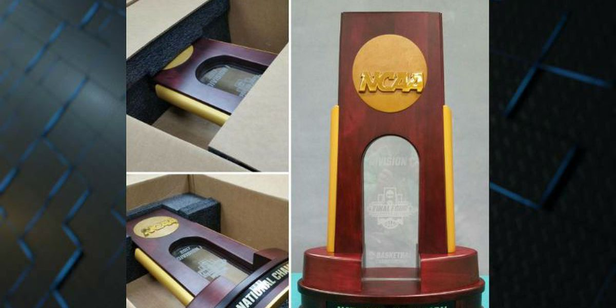 Get your pic with the National Championship trophy at UNCW Thursday