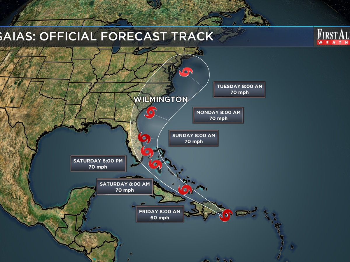 First Alert Forecast: Tropical Storm Isaias: key messages for Cape Fear