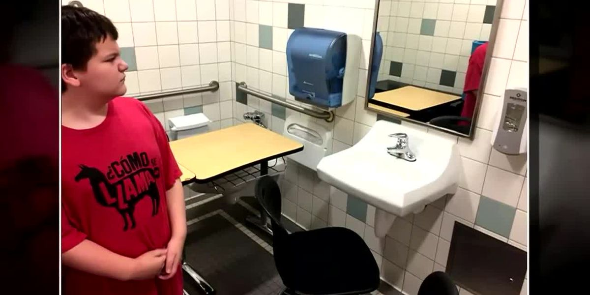 School puts desk of student with special needs in bathroom